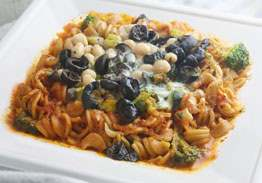 Rotini Pasta With Mediterranean Vegetables & Basil Marinara - Individual Meal
