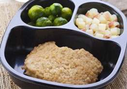 Breaded Pork, Red Skin Potatoes & Brussels Sprouts - Individual Meal