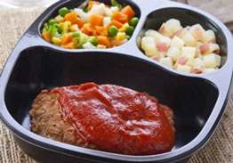 Homestyle Meatloaf with Red Skin Potatoes & Winter Blend Vegetables - Individual Meal