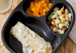 Cheese Manicotti & Alfredo Sauce with Butternut Squash and Autumn Blend - Individual Meal