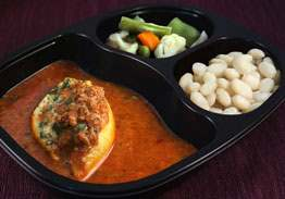 Florentine Stuffed Shell with Meat Sauce, Northern Beans & Spring Vegetables - Individual Meal