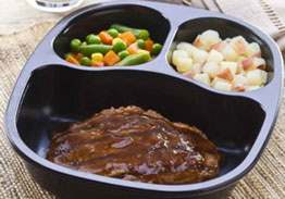 Salisbury Steak with Red Skin Potatoes & Mixed Vegetables - Individual Meal