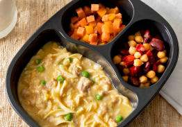 Chicken Noodle Casserole with Bean Blend & Three Seasons Blend - Individual Meal