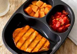 Honey BBQ Chicken Breast Patty with Broccoli & Sweet Potatoes- Individual Meal