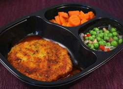 Veal Parmesan with Carrots & Green Pea Blend - Individual Meal