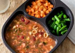 Sausage & Bean Soup with Sweet Potatoes and Green Beans - Individual Meal