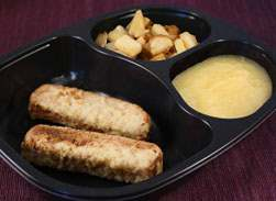 Sausage & French Toast with Applesauce and Hash Browns - Individual Meal