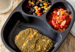 Chimichurri Chicken Breast Patty With Black Beans & Corn and Stewed Tomatoes - Individual Meal