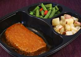 Chipotle Meatloaf with Red Skin Potatoes & Green Beans with Onion & Peppers - Individual Meal
