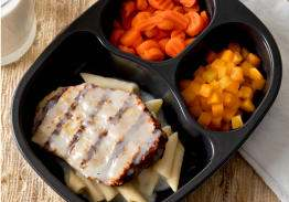 Chicken Patty & Penne Pasta Alfredo with Carrots and Fiesta Corn - Individual Meal